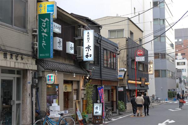 人形町の街並み写真