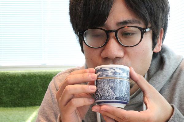 お茶を飲むマンスーンアイコン